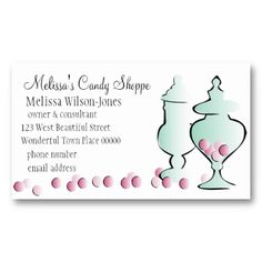 42 best biz card images on pinterest business cards carte de jars with pink candy business card colourmoves