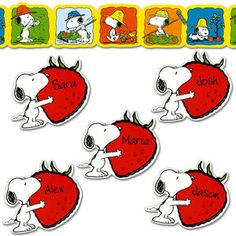 Snoopy's® Strawberry Patch Trimmer And Accents