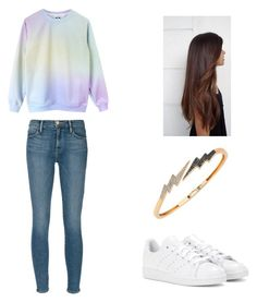 """Sans titre #44"" by carolinechx ❤ liked on Polyvore featuring Frame Denim, adidas and Bee Goddess"