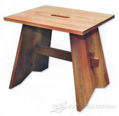 Shaker Stool Plans - Furniture Plans and Projects - Woodwork, Woodworking, Woodworking Plans, Woodworking Projects