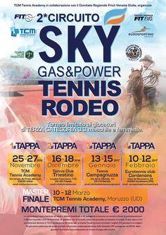 Tennis rodeo, continua il binomio sport/energia, con tutto il nostro sostegno! https://www.facebook.com/tcmtennisacademy/