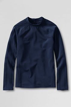 Boys' Long Sleeve Solid Rash Guard from Lands' End