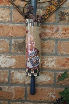LARGE Rolling Pin Gingerbread GirlKitchen by CraftsByJoyice, $24.95