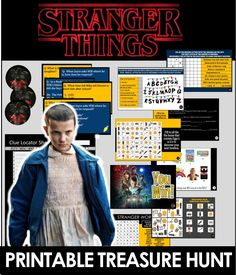 Our exclusive Stranger Things Trivia Treasure hunt can be printed and played everywhere - test you and your friends knowledge of the strangest show we love. Teenage Party Games, Superhero Party Games, Teenage Parties, Kids Party Games, Kid Parties, Amazing Race Party, Harry Potter Party Games, Birthday Party Games, 11th Birthday
