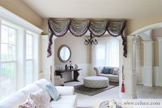 [www.celuce.com] - customize curtains online - swag valance - Victorian style