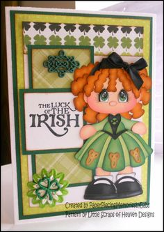 paper piecing st patrick's day | St. Patrick's Day Card. Created by PAPER PIECING MEMORIES BY BABS To ...