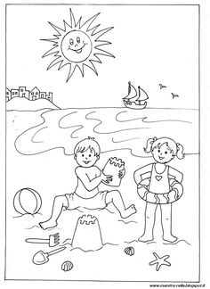 Summer Coloring Sheets, Spring Coloring Pages, Colouring Pages, Coloring Pages For Kids, Adult Coloring, Coloring Books, Art Drawings For Kids, Drawing For Kids, Summer Crafts