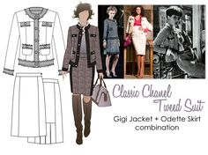 Classic Chanel Tweed Suit - Gigi Jacket, Odette Skirt