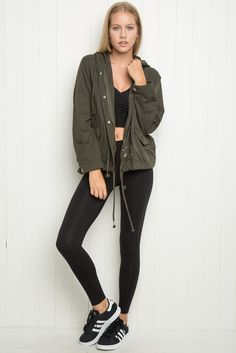 Brandy ♥ Melville | Jenn Hooded Jacket - Just In