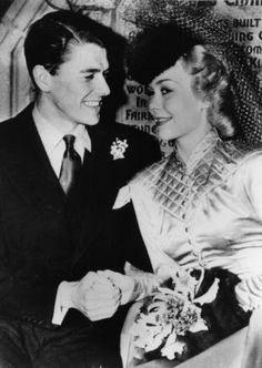 Ronald Reagan & Jane Wyman Wedding 1940, Wee Kirk O' the Heather, Forest Lawn, Glendale, California.