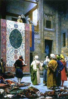 Jean-Léon Gérôme (1824 – 1904)  ~  Carpet Merchant in Cairo