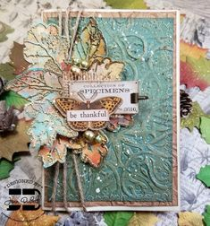 Tim Holtz, Card Making, Thankful, Create, Fall, Cards, How To Make, Inspiration, Autumn