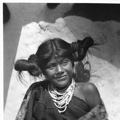 Hopi Indian maiden in the village of Shonguapavi, ca.1901 :: California Historical Society Collection, 1860-1960