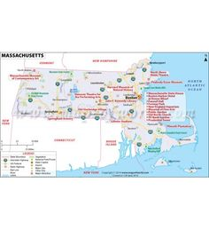 Map of Massachusetts in Digital Format, Starts at $12.00