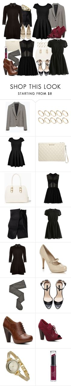 Lydia Inspired Outfits with a Black Dress by veterization on Polyvore featuring River Island, Ayarisa, Topshop, Zara, H&M, HYD, Call it SPRING, Mix No. 6, Qupid and Dorothy Perkins