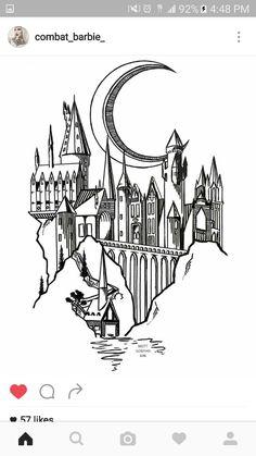 Hogwarts tattoo                                                                                                                                                                                 More