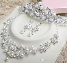 Hot Sell New Style Diamond Alloy Pearl Necklace Earring Combs Three Piece Fashion Bridal Jewelry Wedding Dress Accessories Shuoshuo6588 Affordable Bridal Jewelry Sets Amethyst Bridal Jewelry From Shuoshuo6588, $23.12  Dhgate.Com