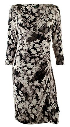 Ralph Lauren Women's Plus Three-Quarter Sleeve Jersey Dress (24W, Black/Grey) RALPH LAUREN http://www.amazon.com/dp/B00T6PU0D2/ref=cm_sw_r_pi_dp_GDA8vb0CDS777