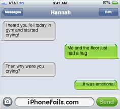 It was really emotional #autocorrect #text fail