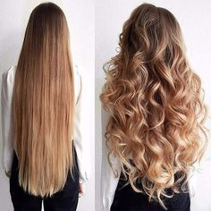 Proof blunt cut hair can look great curled. Proof blunt cut hair can look Beautiful Long Hair, Gorgeous Hair, Coiffure Hair, Very Long Hair, Long Curled Hair, Long Prom Hair, Big Curls For Long Hair, Straight Prom Hair, Long Curls