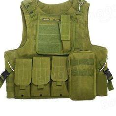 Sale 25% (26.99$) - Amphibious Forces Camouflage Combat Vest Multi Pockets Fishing Tactical CS Outdoor