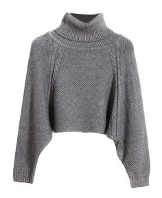 Bread Twist High-necked Loose Fit Sweater - Knit Tops - Pullover - Knitwear - Tops - Clothing