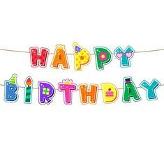 Happy Birthday Kids, Happy Birthday Balloons, Birthday Greetings, Birthday Wishes, Birthday Words, Birthday Charts, Decorative Lines, Birthday Wallpaper, Birthday Background