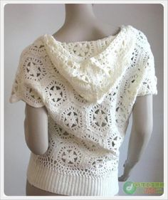Exceptional Stitches Make a Crochet Hat Ideas. Extraordinary Stitches Make a Crochet Hat Ideas. Crochet Hoodie, Crochet Jacket, Crochet Cardigan, Knit Crochet, Crochet Tops, Knit Patterns, Clothing Patterns, Crochet Diagram, Crochet Woman