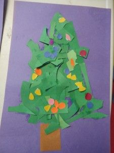 torn or cut paper Christmas Tree Christmas Arts And Crafts, Christmas Crafts For Toddlers, Christmas Tree Themes, Noel Christmas, Christmas Projects, Holiday Crafts, Christmas Ideas, Preschool Christmas Activities, Preschool Art Projects