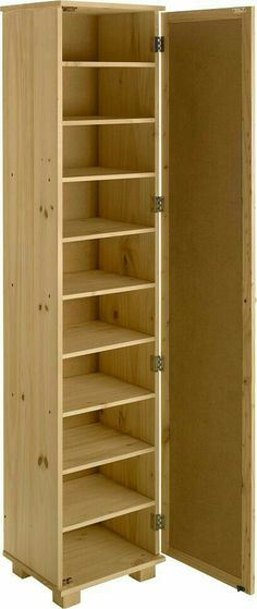 Excellent This floor-to-ceiling shoe shelf hides neatly behind double doors  ZD86