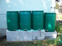 OR company. These are recycled 55 gallon food grade plastic barrels. These barrels are $55 each. The diverter is $20. Buy them together for $70.   I have hunter green, blue or white barrels available.   I can install them too for a small fee. CCB#195145. gradybarrels.com   541-554-675three   Patrick
