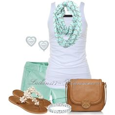 Cute summer outfit. I would totally use a different purse though to go with this, but that's just me.