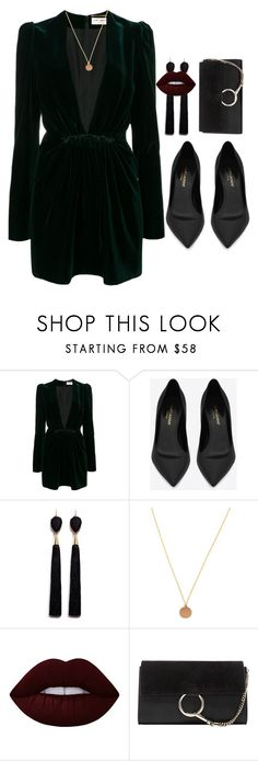 """""""shot at the night"""" by edkth on Polyvore featuring Yves Saint Laurent, Mignonne Gavigan, Lime Crime and Chloé"""