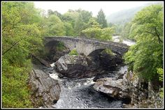 I guessed right that this was in the Scottish highlands! Looks a bit like the Falls of Dochart.