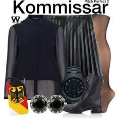 Inspired by Birgitte Hjort Sorensen as Kommissar in 2015's Pitch Perfect .