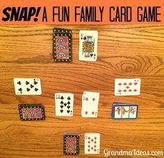 A card game for family grandma ideas Snap! A Card Game for Family . A card game for family grandma ideas Snap! A Card Game for Families Grandma Ideas Snap is a f - Family Card Games, Fun Card Games, Card Games For Kids, Playing Card Games, Kids Playing, Dice Games, Activity Games, Math Games, Fun Activities