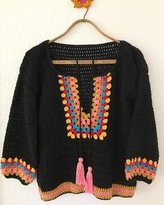 Fabulous Crochet a Little Black Crochet Dress Ideas. Georgeous Crochet a Little Black Crochet Dress Ideas. Crochet Bodycon Dresses, Black Crochet Dress, Crochet Cardigan, Crochet Woman, Crochet Baby, Knit Crochet, Crochet Tops, Easy Crochet Projects, Modern Crochet