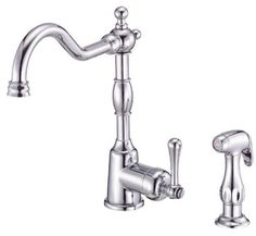 danze faucet and sprayer. Would love this in oil rubbed bronze