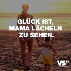 Glück ist, Mama lächeln zu sehen.