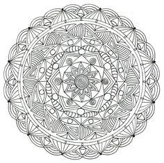 Adult Colouring Page - Mandala 1 by KafsKrafts on Etsy