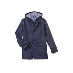 Petit Bateau Iconic Navy Raincoat ($195) ❤ liked on Polyvore featuring outerwear, coats, navy blue coat, navy blue raincoat, navy coat, petit bateau and petit bateau raincoat