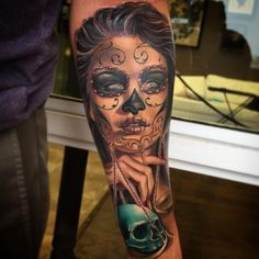 Tatu Baby: Day of the Dead Lady Justice with @selenagomez face