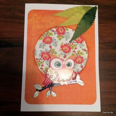 3D hand made card with an owl
