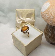 17,2 mm Nostalgischer Ring Gold 333 Bernstein Shabby Vintage GR617 Shabby Vintage, Ringe Gold, Amber, Decorative Boxes, Etsy, Rings, Vintage Jewellery, Gold Rings, Craft Gifts