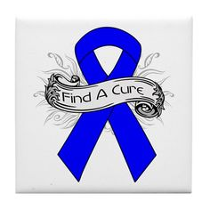 Colon Cancer Find A Cure Tile Coaster