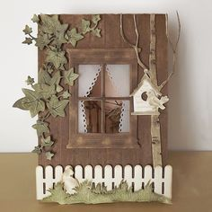 Card window by Elly de Bruin-Dekker - Joy! Cute Cards, Diy Cards, Fall Cards, Christmas Cards, Diy Natal, New Home Cards, Scrapbooking Photo, Window Cards, Die Cut Cards