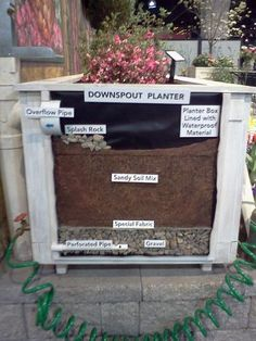 Downspout Planter from Stormwater Management on Display at Philadelphia Flower Show
