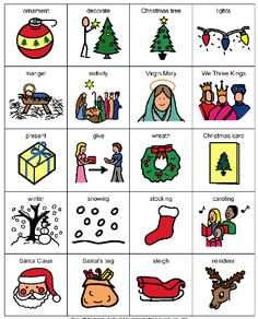 Christmas Boardmaker card for children with Autism Autism Activities, Autism Resources, Kindergarten Activities, Pecs Pictures, Speech Therapy Autism, Social Skills Autism, Christmas Card Pictures, Autism Classroom, Special Education