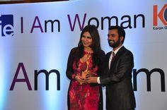 Nisha JamVwal and educationist Karan Gupta at I Am Woman event
