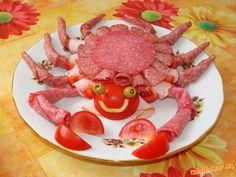 Obložená misa krab